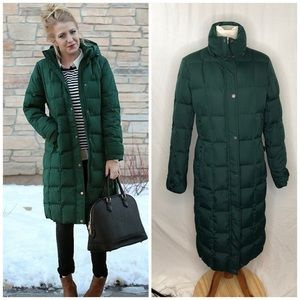 Lands end chalet coat puffer jacket size small